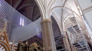 La iglesia de Santa María reabrirá totalmente al culto tras implantar medidas de seguridad en sus naves