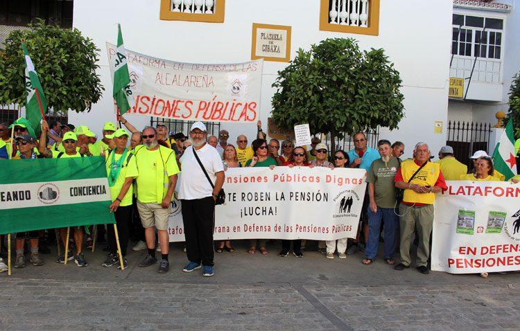 Los pensionistas toman las calles de Utrera en su marcha hacia Madrid