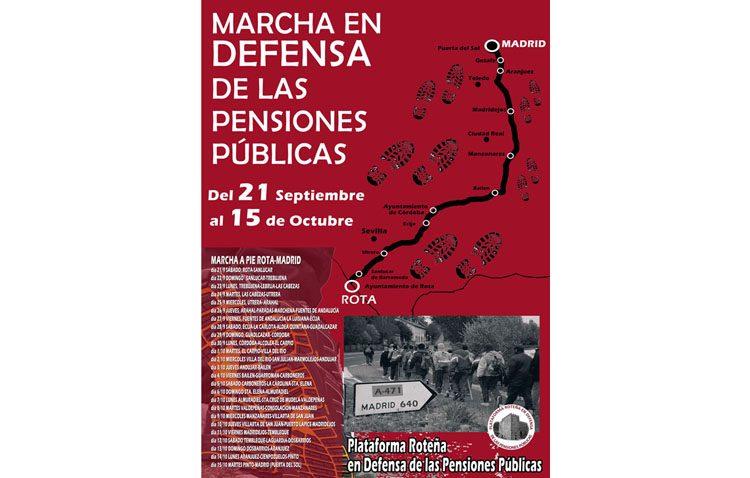 Utrera se sumará a la marcha a pie Rota-Madrid para defender las pensiones públicas