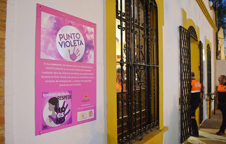El «punto violeta» se estrena en la Feria de Consolación atendiendo sus primeros casos