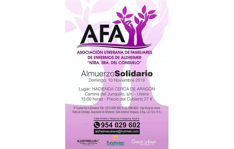 La asociación de enfermos de Alzheimer celebra un año más su almuerzo solidario
