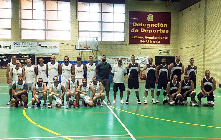 La base de Morón se impone a la Guardia Civil en el partido de baloncesto celebrado en Utrera con motivo del día del Pilar