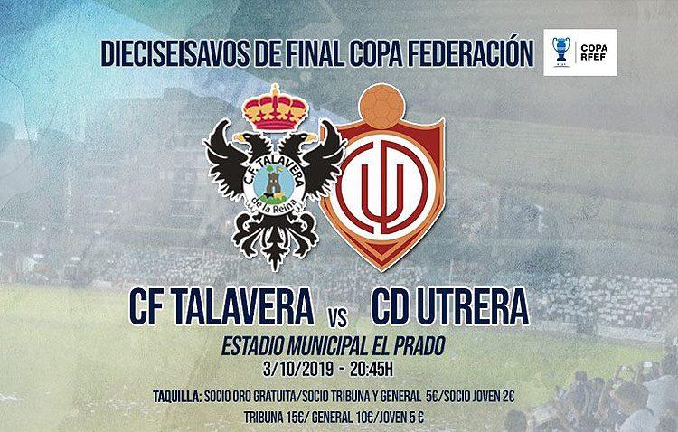 C.F. Talavera de la Reina – C.D. Utrera: Los utreranos afrontan la primera eliminatoria de la Copa Federación