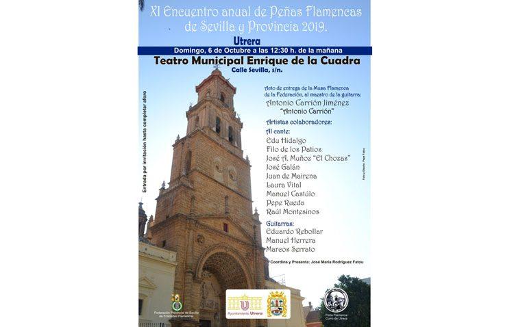 Utrera acoge el encuentro anual de peñas flamencas de Sevilla y provincia