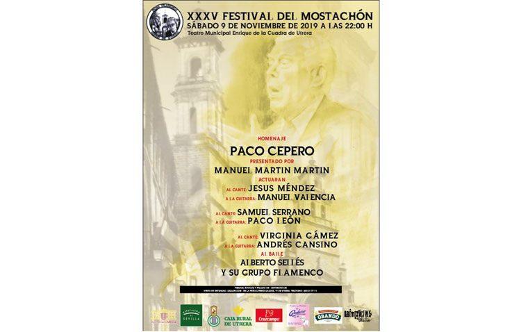 Todo listo para un Festival del Mostachón que rendirá homenaje en Utrera al guitarrista Paco Cepero