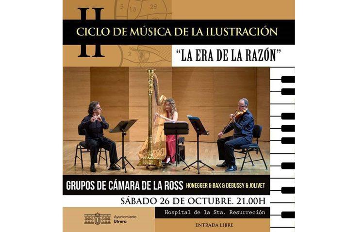 Música de Honegger, Bax, Debussy y Jolivet en Utrera gracias al ciclo de música de la Ilustración
