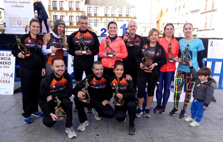 El Club Deporteando por Utrera consigue once podios en la carrera contra la violencia machista