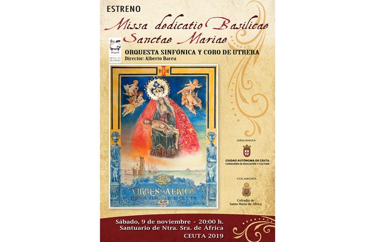 La orquesta sinfónica de Utrera ofrece un concierto para celebrar el sexto centenario de la llegada de la Virgen de África a Ceuta