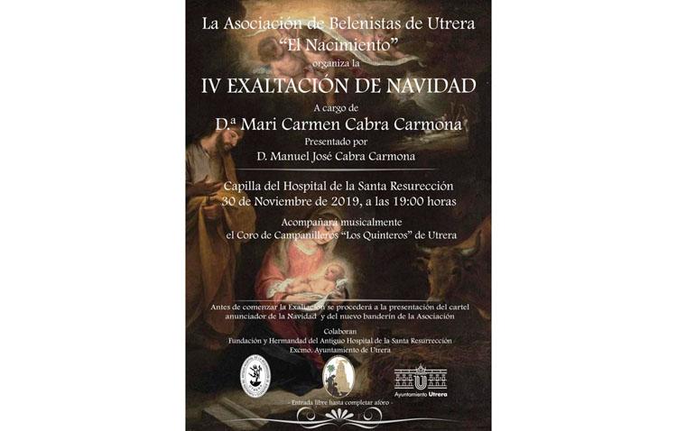 María del Carmen Cabra pronunciará la exaltación de Navidad que organiza la asociación de belenistas de Utrera