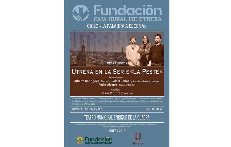 El director de la serie «La peste», protagonista del ciclo «La palabra a escena» de Caja Rural de Utrera y el Ayuntamiento