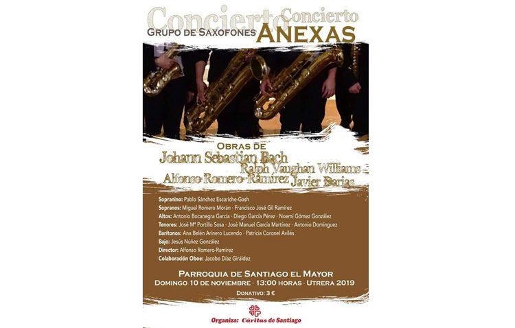 Concierto de saxofones a beneficio de Cáritas de Santiago