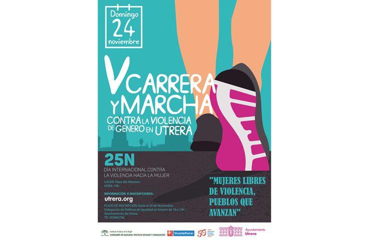La carrera y marcha contra la violencia de género recorre este domingo las calles de Utrera