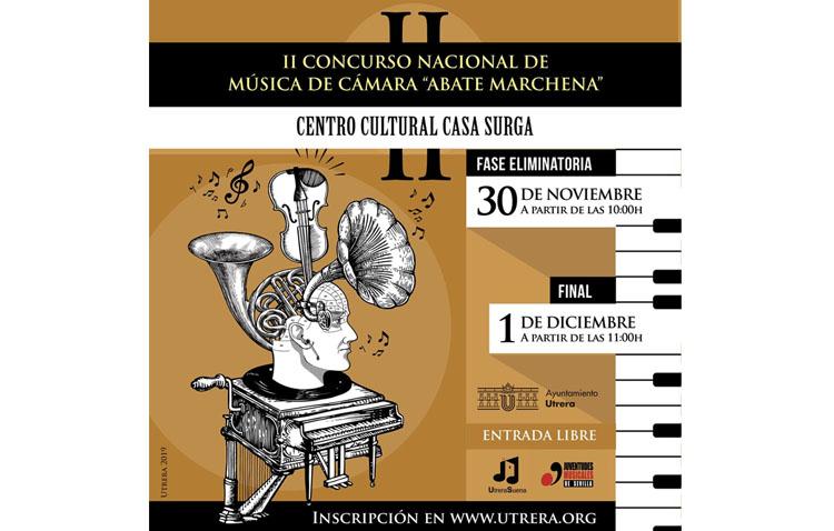 Un fin de semana para disfrutar del concurso de música de cámara en Utrera con la presencia de nueve participantes