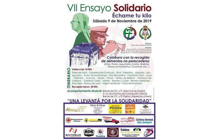 Tarde de «Ensayo solidario» de la hermandad de los Gitanos por las calles de Utrera
