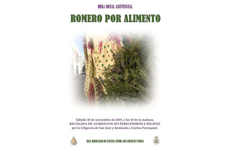 La hermandad del Rocío ofrecerá «Romero por alimento» por las calles de Utrera