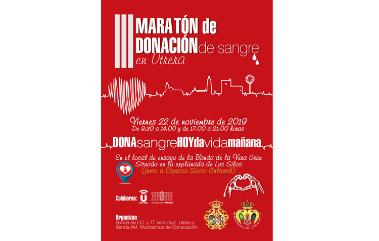 El tercer maratón de donaciones de sangre de Utrera llega este viernes a Los Silos