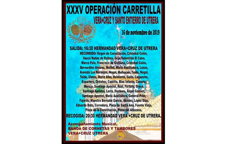 Recogida de alimentos por las calles de Utrera gracias a la «Operación carretilla» de la hermandad de la Vera-Cruz