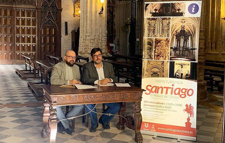 La parroquia de Santiago amplía su horario de visita como recurso turístico tras un convenio con el Ayuntamiento de Utrera