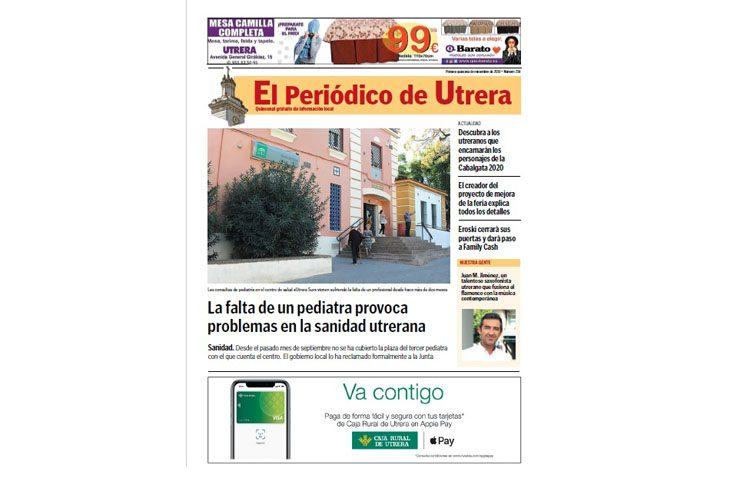 Toda la información sobre la ciudad una quincena más en «El Periódico de Utrera»