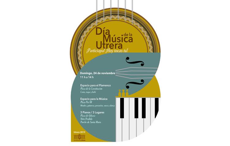 Un domingo con música y baile en las calles de Utrera por el día de Santa Cecilia