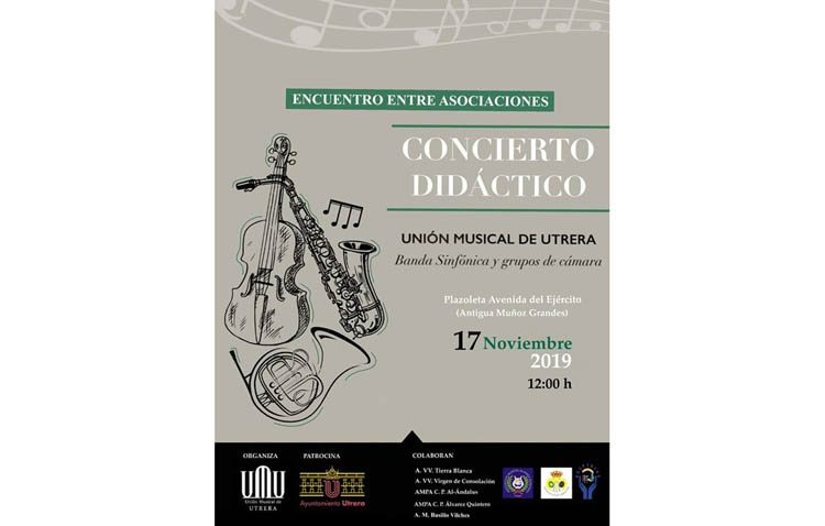 La Unión Musical de Utrera propone un «Concierto didáctico» en la barriada Juan Carlos I