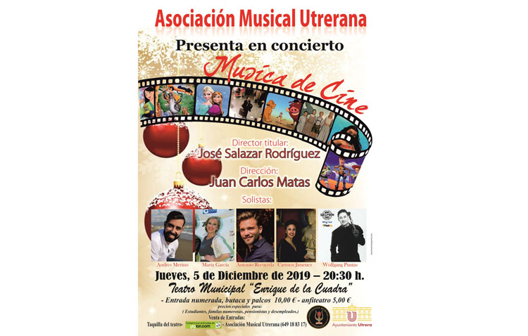 Un concierto en el teatro de Utrera para repasar la música del cine