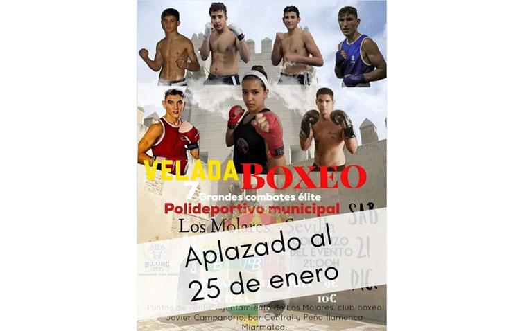 Aplazada hasta enero la velada de boxeo organizada por Javier Campanario en Los Molares
