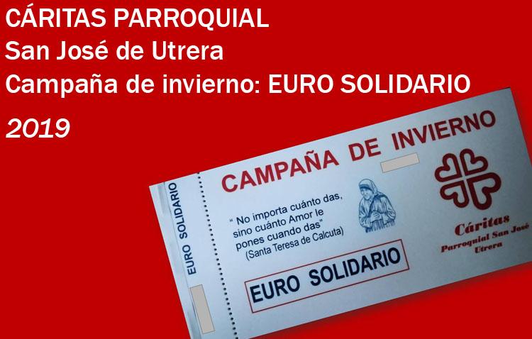 Cáritas de San José pone en marcha la campaña «Euro solidario»