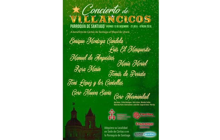 Un concierto navideño a beneficio de Cáritas en la parroquia de Santiago