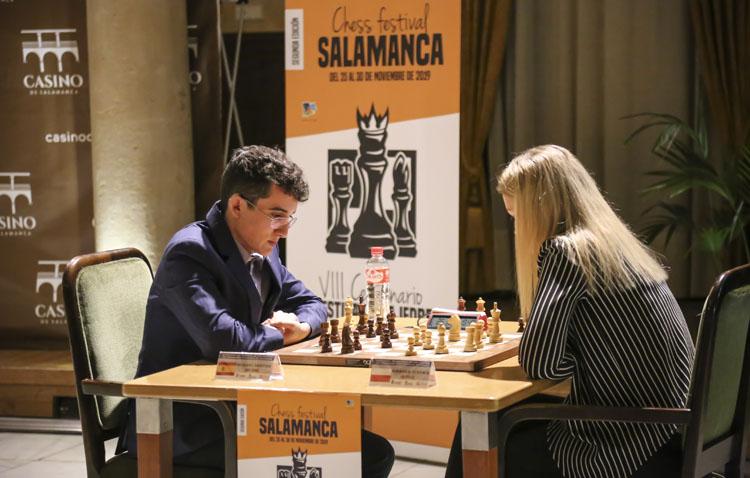 El utrerano Miguel Santos, tercero del festival de ajedrez «VIII Centenario de la Universidad de Salamanca»