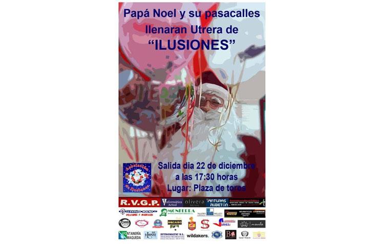 Un pasacalles de Papá Noel recorrerá Utrera este domingo