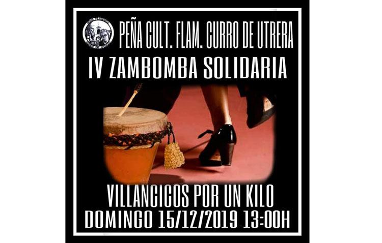 Zambomba solidaria en la peña flamenca «Curro de Utrera»