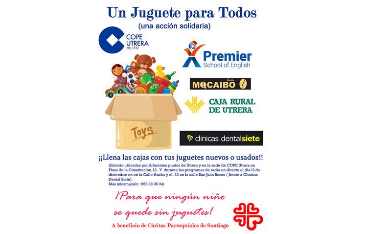 COPE Utrera ofrece este viernes un programa desde la calle Virgen de Consolación con la campaña «Un juguete para todos»