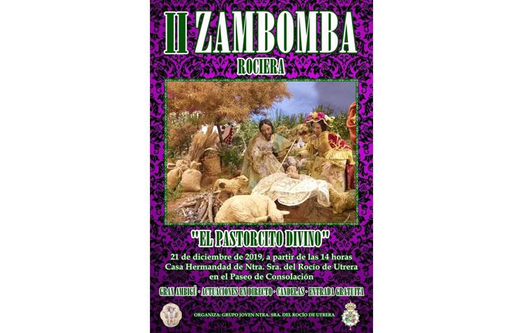 Una zambomba rociera en Utrera para cantar por villancicos al «Pastorcito Divino»