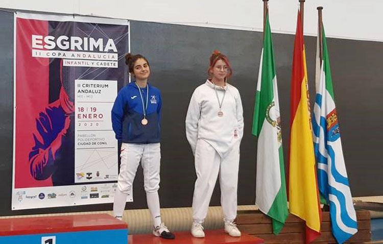 Medalla de bronce para el Club de Esgrima de Utrera en la copa de Andalucía
