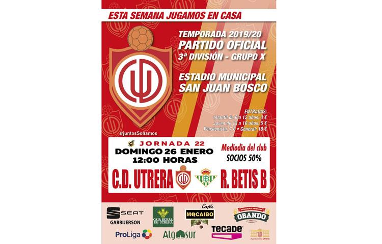 BETIS DEPORTIVO – C.D. UTRERA: El San Juan Bosco preparado para recibir al filial bético