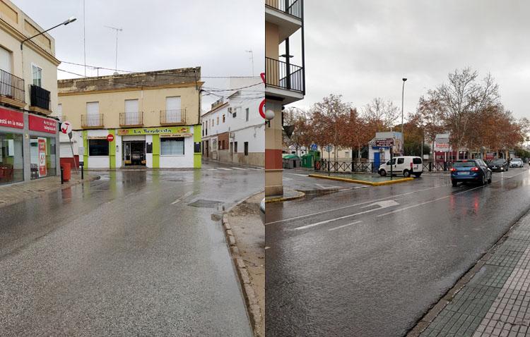 Dos rotondas en Utrera mejorarán el tráfico junto al Telepizza y al inicio de la calle Santiago Apóstol
