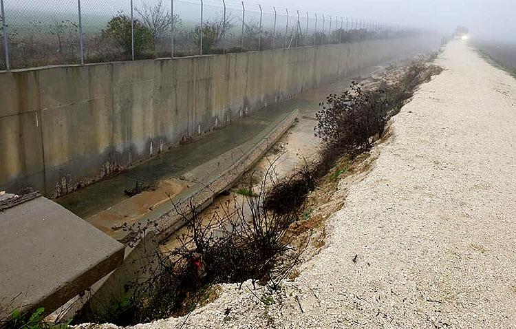 Un tercer desprendimiento en el desvío del Calzas Anchas derrumba otros 70 metros del canal