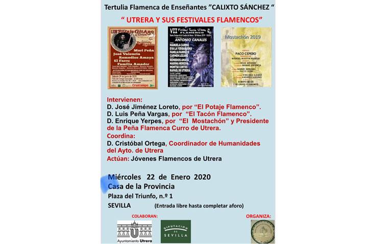 Una mesa redonda hablará en Sevilla de los festivales flamencos de Utrera