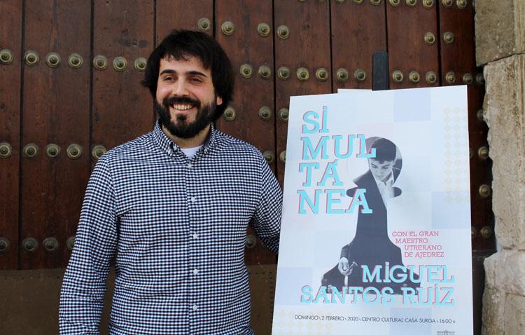 El prestigioso ajedrecista Miguel Santos se enfrentará a 20 partidas simultáneas en Utrera
