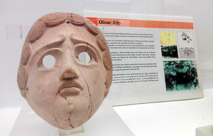 Cuatro décadas de misterio en torno a la enigmática máscara encontrada en el yacimiento del Olivar Alto de Utrera