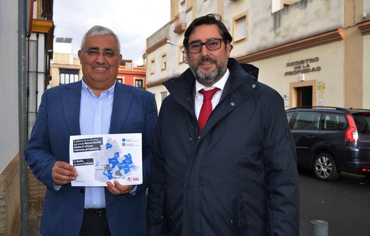 El PSOE insiste en el cierre de la oficina liquidadora de Utrera