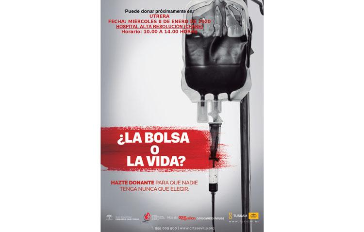 Una mañana para donar sangre en el hospital de alta resolución de Utrera