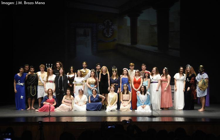 El grupo Thalía Helena del instituto utrerano Ruiz Gijón pondrá en escena su obra «Mitos, dioses y héroes» en las Escuelas Francesas de Sevilla