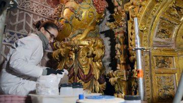 Un domingo muy especial en Consolación para bendecir el retablo de la patrona de Utrera