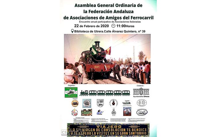 La ciudad de Utrera acogerá la asamblea de la Federación Andaluza de Asociaciones de Amigos del Ferrocarril