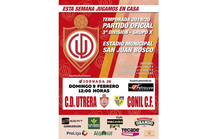 C.D. UTRERA – CONIL C.F.: Nueva oportunidad para recortar distancia con los puestos de play off