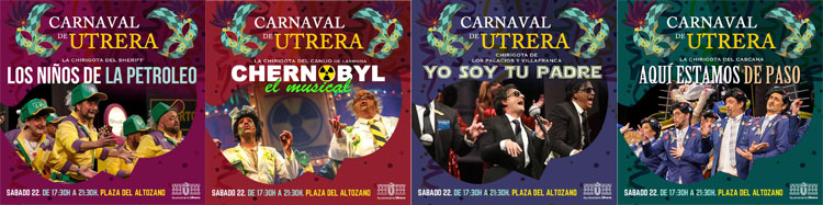 Las chirigotas serán las protagonistas de este sábado de carnaval en Utrera