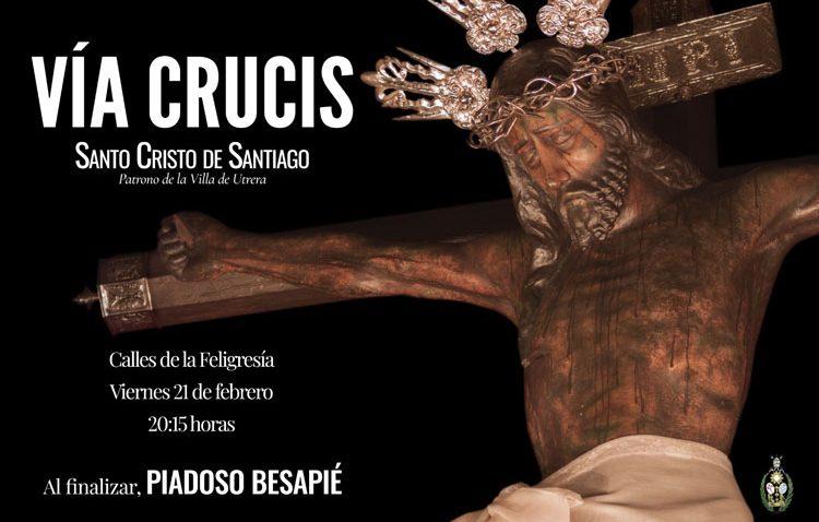 Un vía crucis para iniciar este viernes los cultos anuales en honor al patrono de Utrera