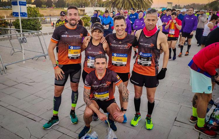 El club «Deporteando por Utrera» mejora sus marcas en la «Zurich Maratón Sevilla»
